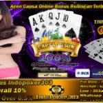 Agen Judi Capsa Online Bonus Cashback Terbesar